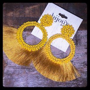 Bjoux Bar mustard large earrings